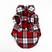1Pcs Lovely Grid Sweater Puppy Cotton Coat T-Shirt Pet Dog Apparel Clothes Shirt