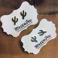 Mecca Fox Cactus Earrings