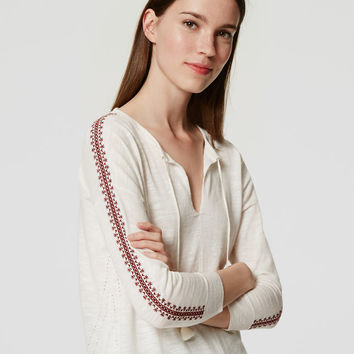 Embroidered Tunic Sweater | LOFT
