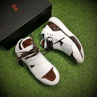 Best Online Sale Louis Vuitton LV x Y-3 QASA HIGH  White Brown Casual Shoes Sport Shoes