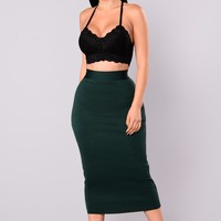 Swept Away Bandage Skirt - Hunter Green