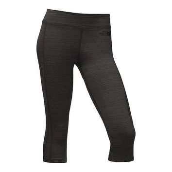 Women's Pulse Capri Tights in Black Tribal Print by The North Face - FINAL SALE