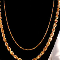 AVON Gold Chain Necklaces in New Condition