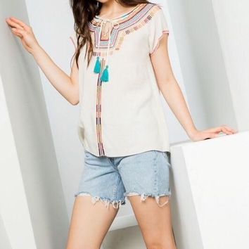 Amada THML Cotton Embroidered Top