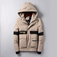 Boys & Men Supreme Fashion Casual Quilted Cardigan Jacket Coat Hoodie