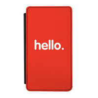 Hello Premium Faux PU Leather Case Flip Case for Samsung Galaxy Note 3 by textGuy