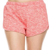 Banded Low Waist Two Tone Workout Mini Shorts