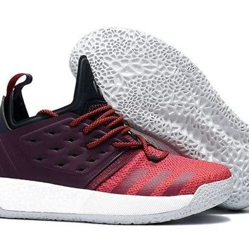 ADIDAS HARDEN VOL. 2 BLACK/PURPLE/RED BASKETBALL SHOE