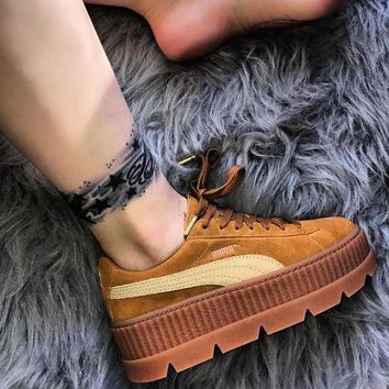 PUMA Fenty Creeper Women Casual Running Sport Shoes Sneakers Roses Grey Green G-A-YYMY-XY-1
