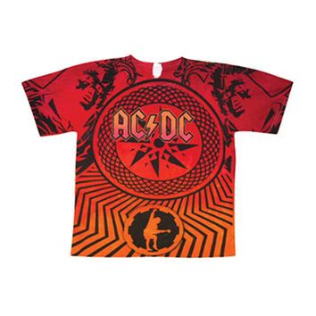 AC/DC Men's  Stadium Tour Tie Dye T-shirt Multi