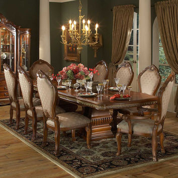 Aico Cortina Rectangular Table Dining Room Set w/ China & Buffet