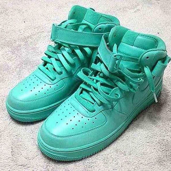 Custom colored Nike Air force 1 Mid Top Trainers
