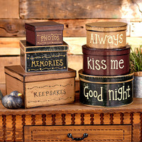 Stackable Vintage Box Sets Home Decor
