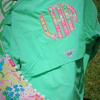 Columbia PFG Fishing Shirt with Monogram - Throw A Tantrum