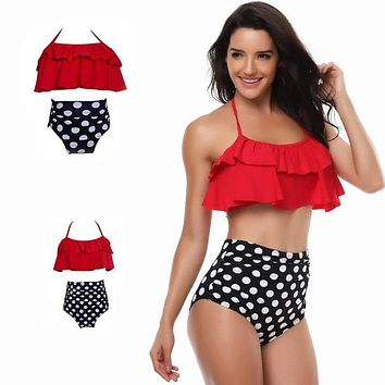 Matching Family Bathing Suits Mother Girl Bikini Swimsuit
