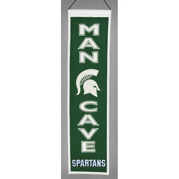 Michigan State Spartans NCAA Man Cave Vertical Banner (8 x 32)