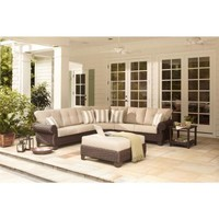 Hampton Bay Mill Valley 4-Piece Patio Sectional Seating Set-143-002-4SECOLE at The Home Depot