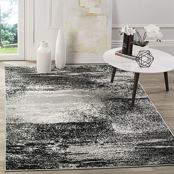 9949 Silver Black Modern Contemporary Area Rugs