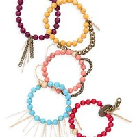 The Lace Project Set of 5 Beaded Bracelets | Nordstrom