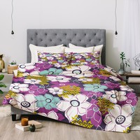 Heather Dutton Petals and Pods Orchid Comforter