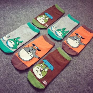 Miyazaki Hayao Classic comics socks My Neighbor Totoro Cosplay cartoon personality sock summer casual Comfortable funny socks