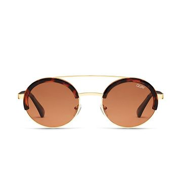 Quay Come Around Tortoise Sunglasses / Brown Lenses