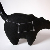 Ursa Minor Constellation- The Little Bear in Black