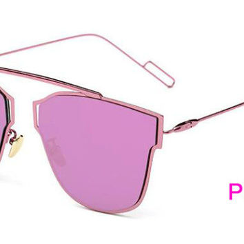 Flat Panel Lens Sunglasses  Pink