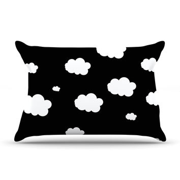 "Suzanne Carter ""Clouds"" Black White Pillow Sham"