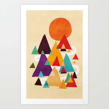 Let's visit the mountains Art Print by Budi Satria Kwan