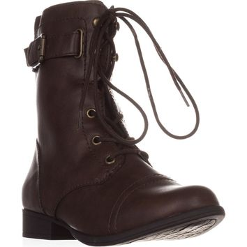 AR35 Fionn Combat Boots, Brown, 8 US