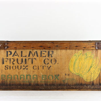 Banana Crate, Banana Box, Vintage Banana Box, Vintage Banana Crate, Wood Banana Crate, Wood Banana Box, Old Banana Crate, Old Banana Box