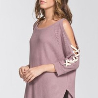 Tie Detail Sleeves - Mauve