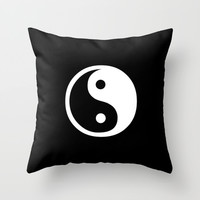 Yin Yang Black White Throw Pillow by BeautifulHomes | Society6