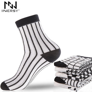 Socks Thin Socks Long Deodorize Socks Cotton Boy's Socks Casual Wear Colorful Stocking Pattern Men
