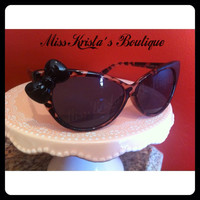 Hello kitty sunglasses with leopard cat eye by MissKristasBoutique