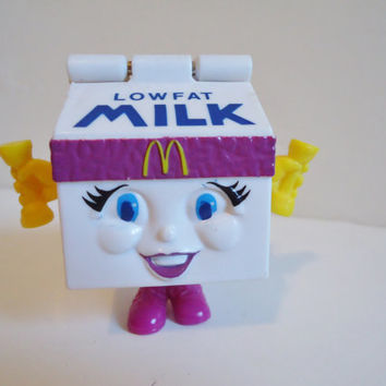 90's Collectible McDonalds Milk workout Buddy Transformers Happy Meal Toy from 1993