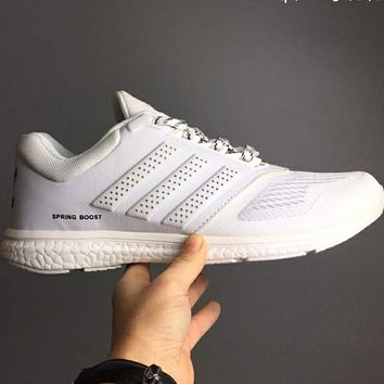 ADIDAS Leather cloth sports  shoes L-CSXY  White