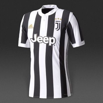 KUYOU Juventus 2017/18 Home Men Soccer Jersey Personalized Name and Number