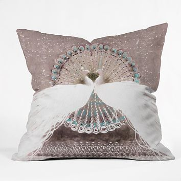 Hadley Hutton Pair Of Peacocks Throw Pillow