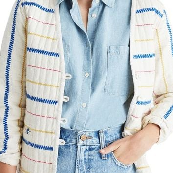 Madewell Quilted Side Tie Jacket | Nordstrom