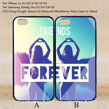 Friends Forever Couple Case,Custom Case,iPhone 6+/6/5/5S/5C/4S/4