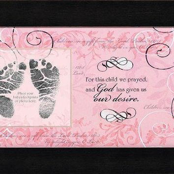 Photo Frame - For This Child I Have Prayed - Girl