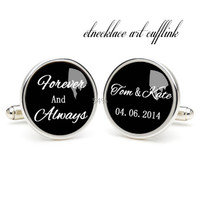 Forever and alwarys cufflinks , wedding gift ideas for bride,perfect gift for dad,great gift ideas for men,wedding jewellery