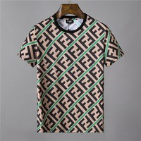 FENDI Women Men Fashion Print Sport Shirt Top Tee