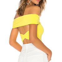 Lovers + Friends Neil Bodysuit in Bright Yellow | REVOLVE