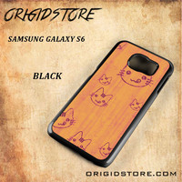 Wood Greedy Hello Kitty For Samsung Galaxy S6 - Gift Present Multiple Choice