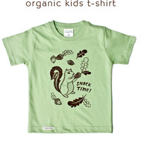 Squirrel Kids T-shirt Toddler T-shirt / Snack Time Kids Tee at boygirlparty.com
