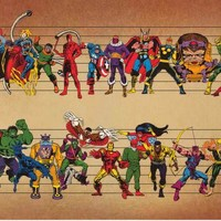 Marvel Comics Superheroes and Villains Line-Up Poster 24x36