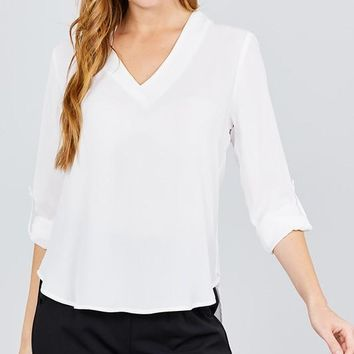 Business Babe Top - Off White